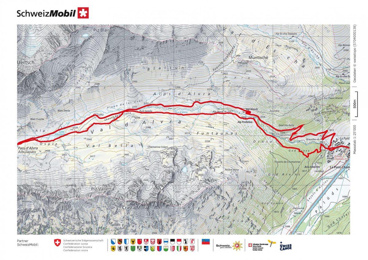 Map of St Moritz
