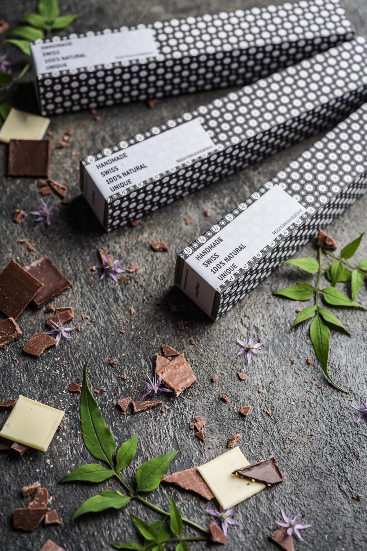Artisan chocolate squares