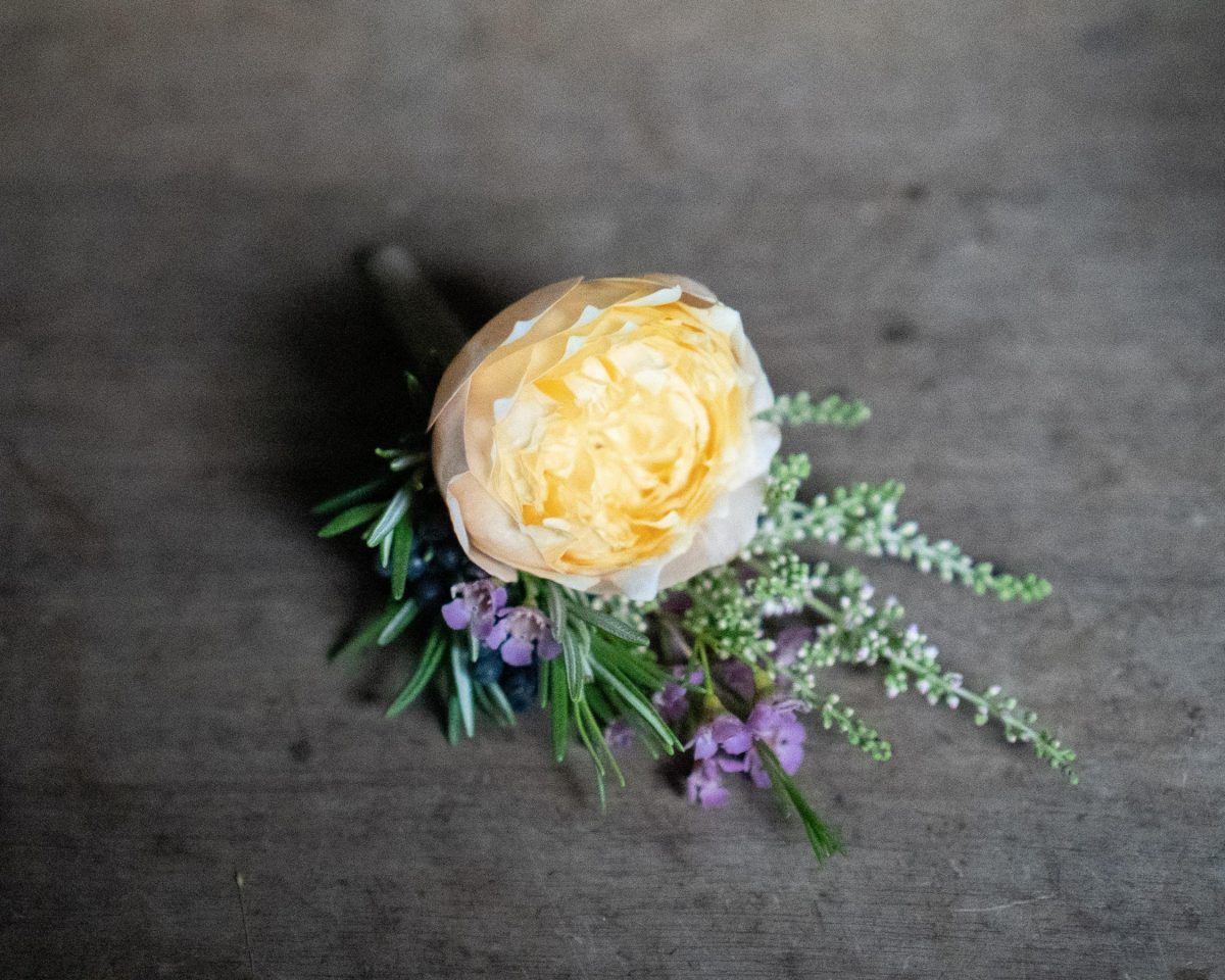 Boutonniere from Mcqueens