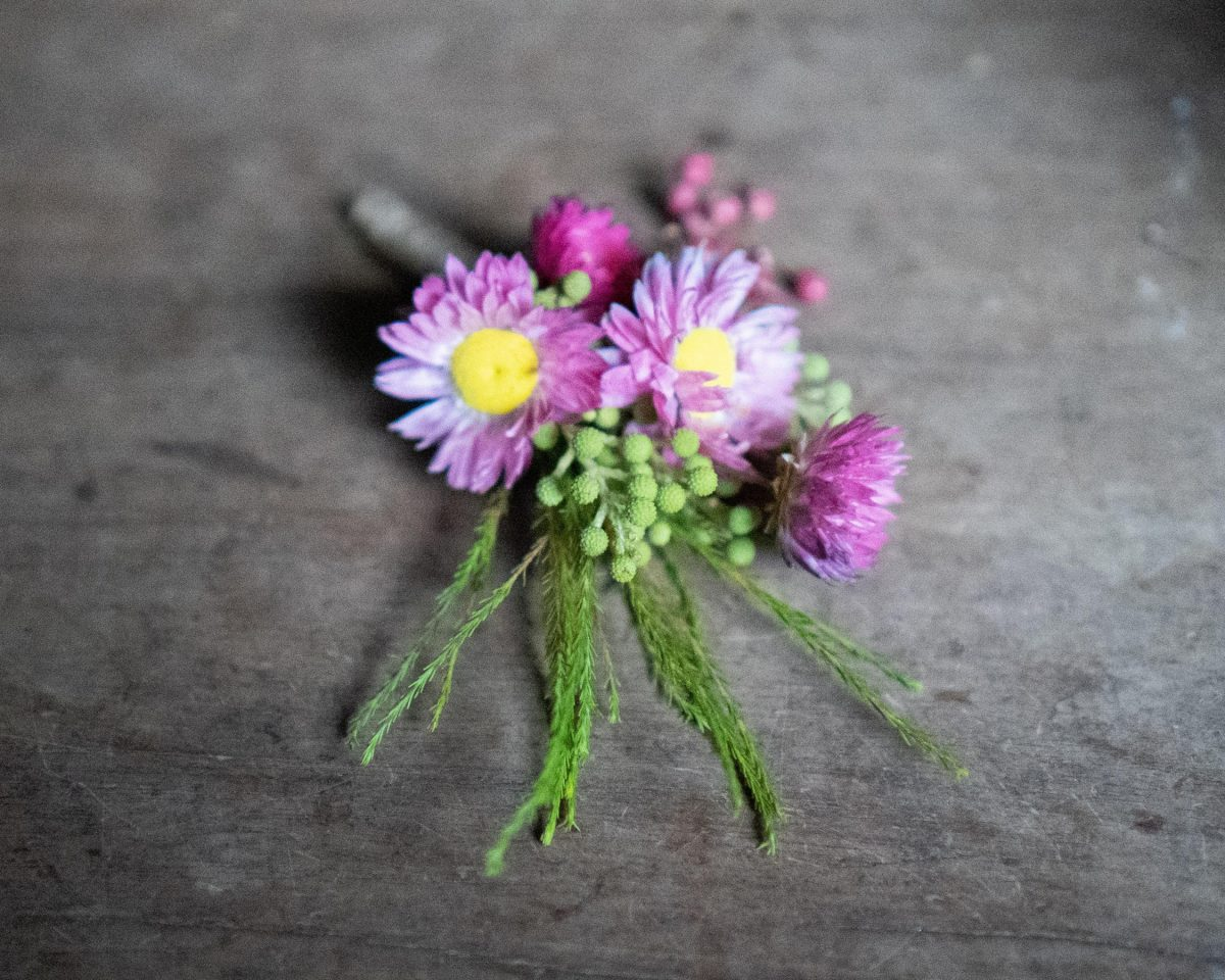 Buttonhole from Mcqueens