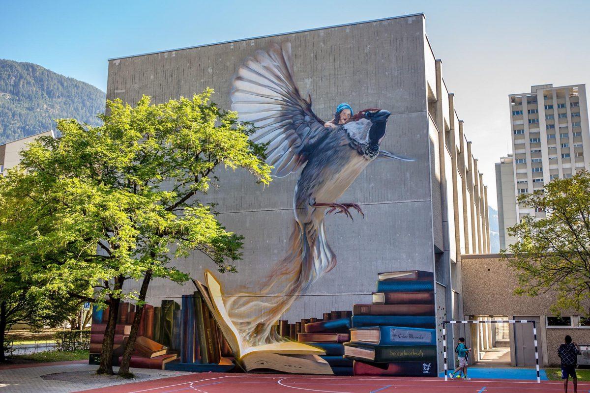 Bane & Pest wall art in Chur