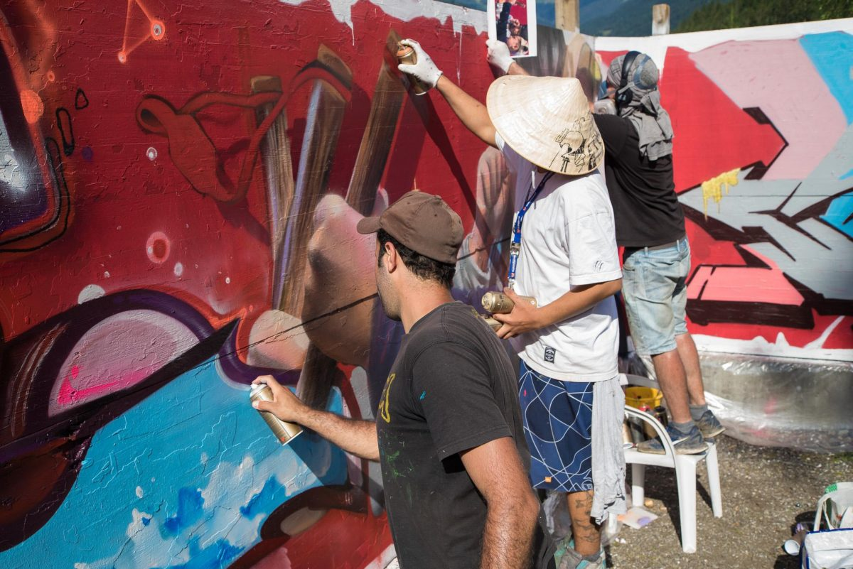 Bane & Pest wall art Polenta Jam Hip-Hop festival
