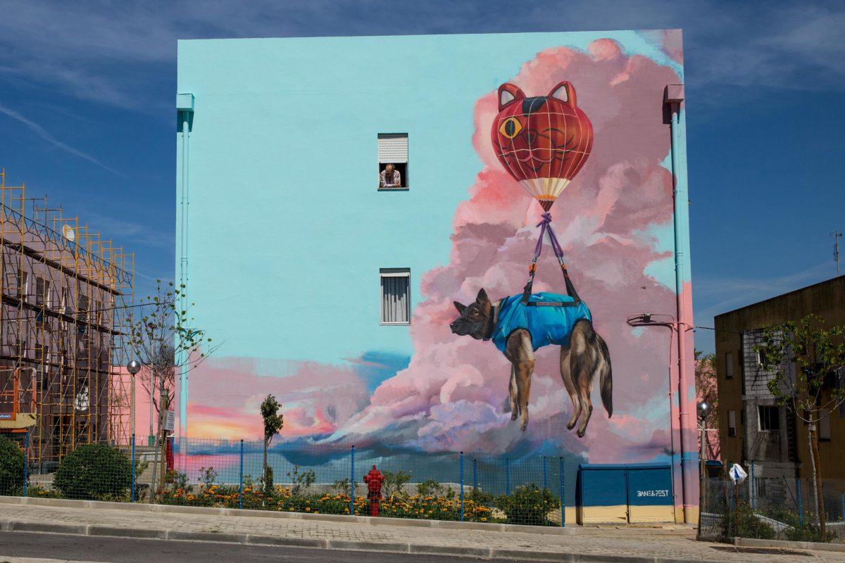 Bane & Pest wall art Streetart Festival Portugal
