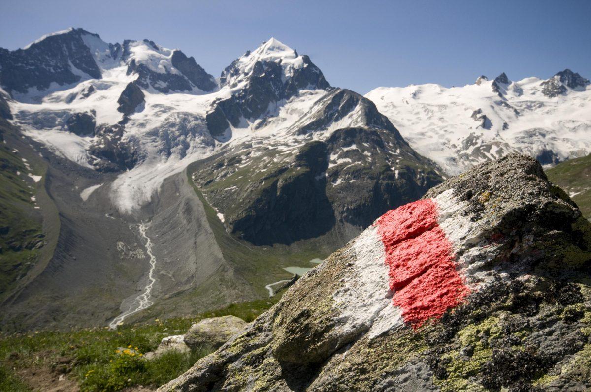Bernina mountain range