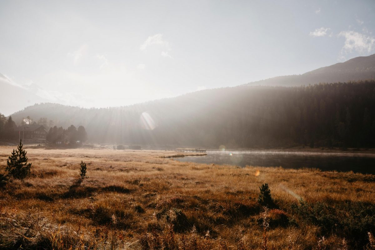 Switzerland, Engadin, Lake Staz