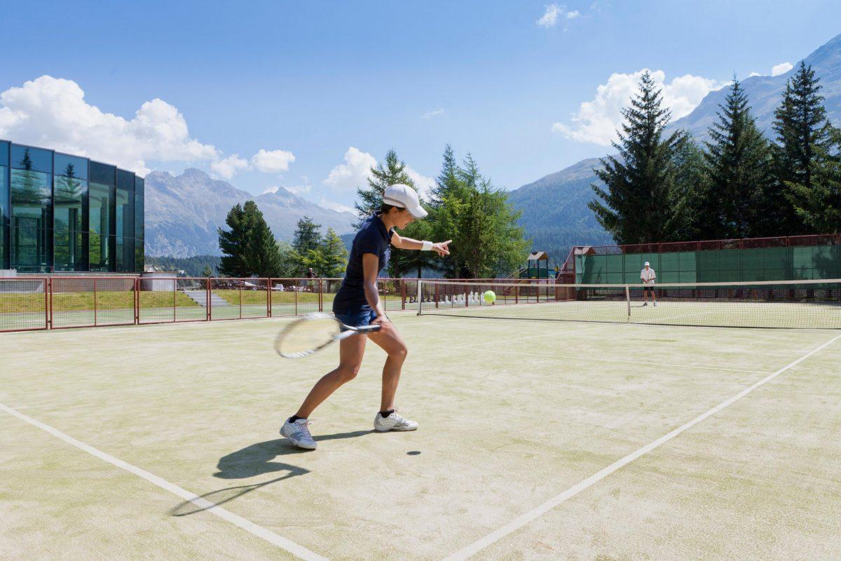 Tennis at Badrutt's Palace Hotel
