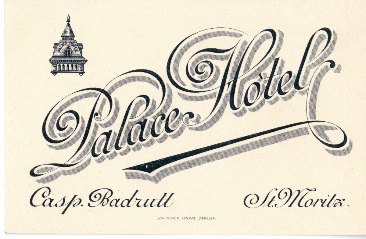 Badrutt's Palace business card