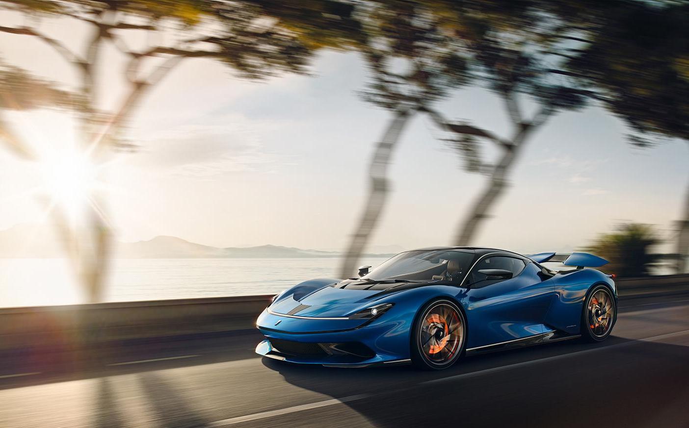 A sporty modern electric car