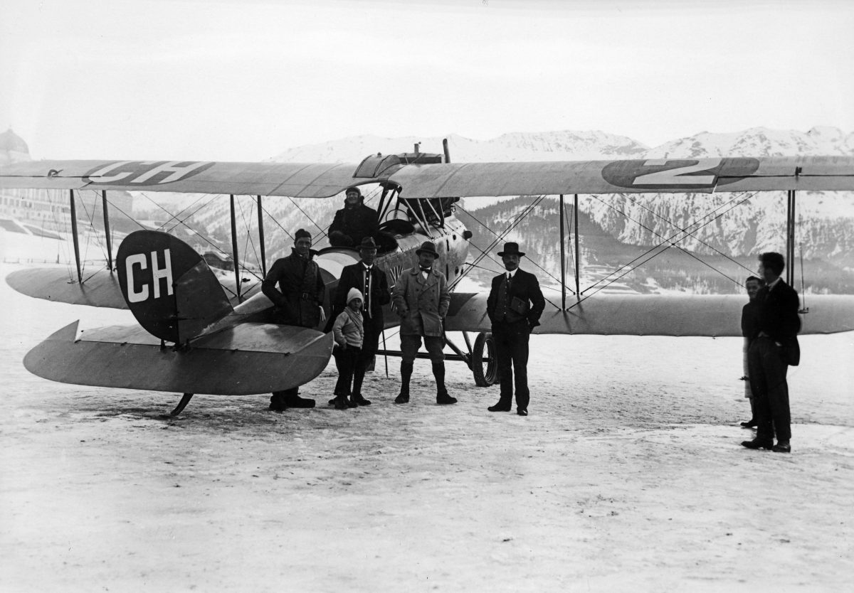 Alfred Comte's historic first ever Switzerland to UK flight