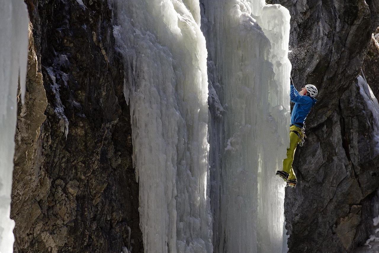 Climber in St. Moritz