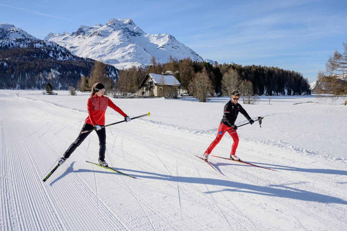 Cross-country skiing in St. Moritz