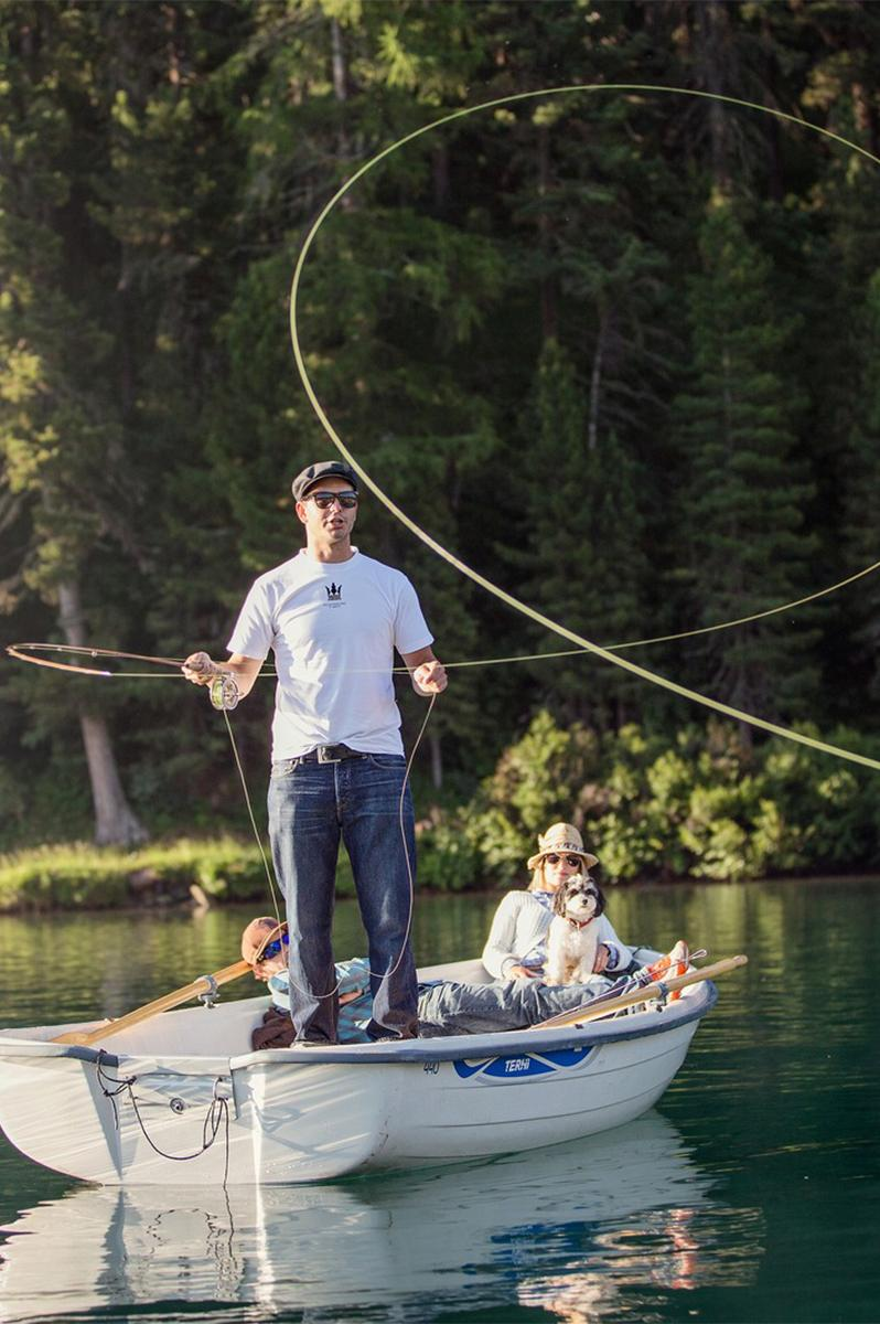 Fishing in St. Moritz