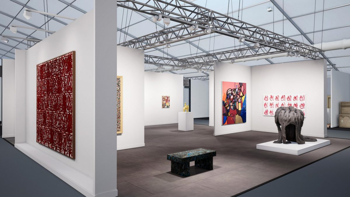 Hauser & Wirth's Frieze Masters booth installation view in HWVR