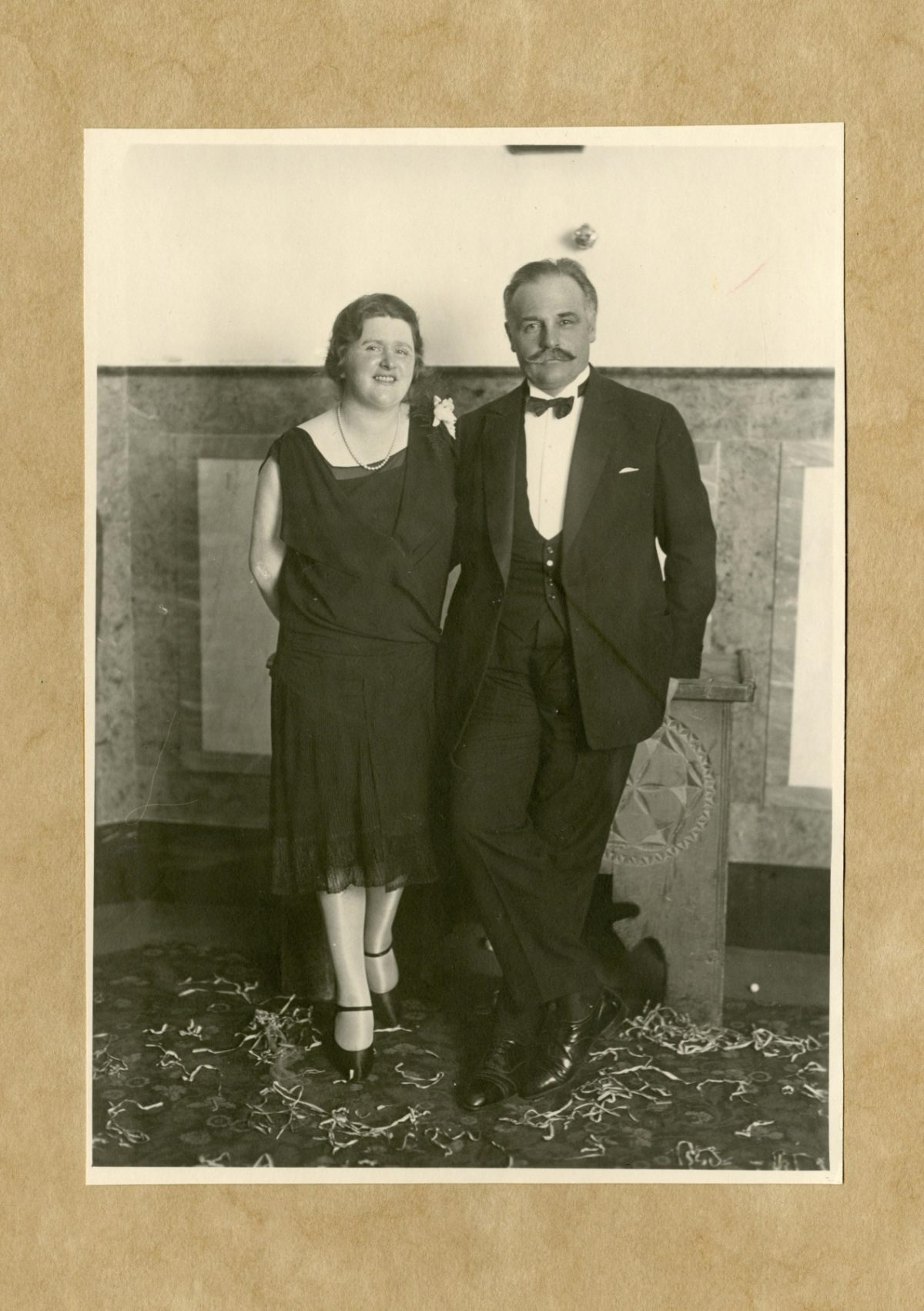Helen and Hans Badrutt on New Year's Eve