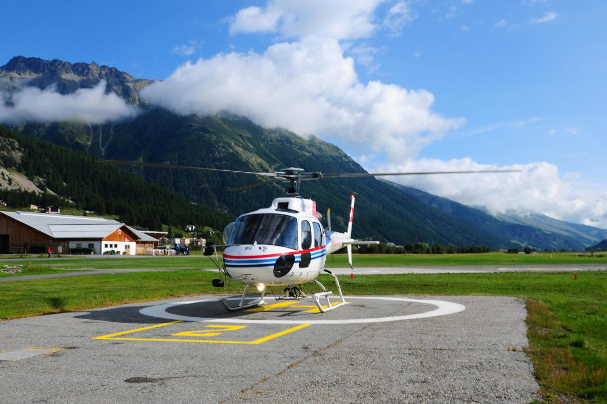 Helicopter in St. Moritz