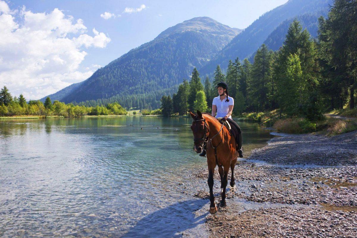 Horseriding in St. Moritz