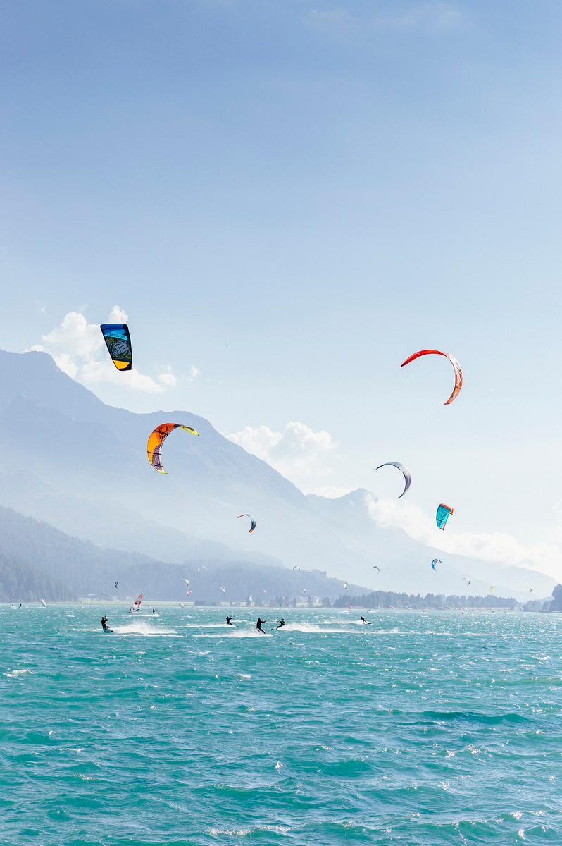 Kite surfing St. Moritz