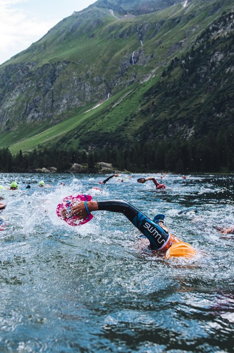 Lake swimming in St. Moritz