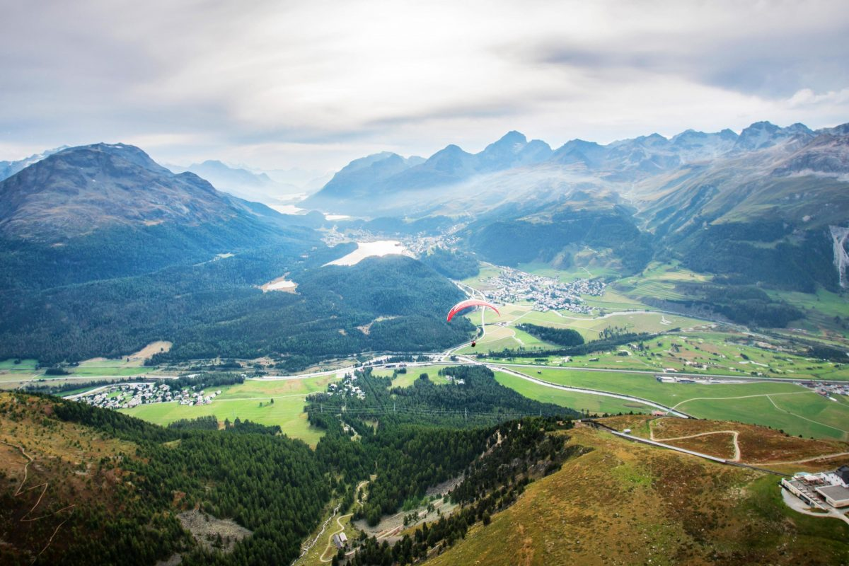 Paragliding in St. Moritz