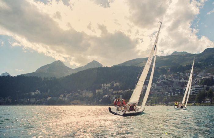 Sailing boat in St. Moritz