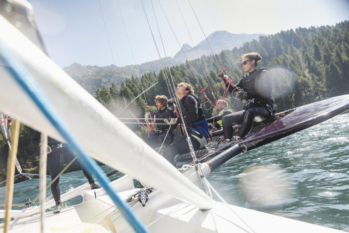 Sailing in St. Moritz