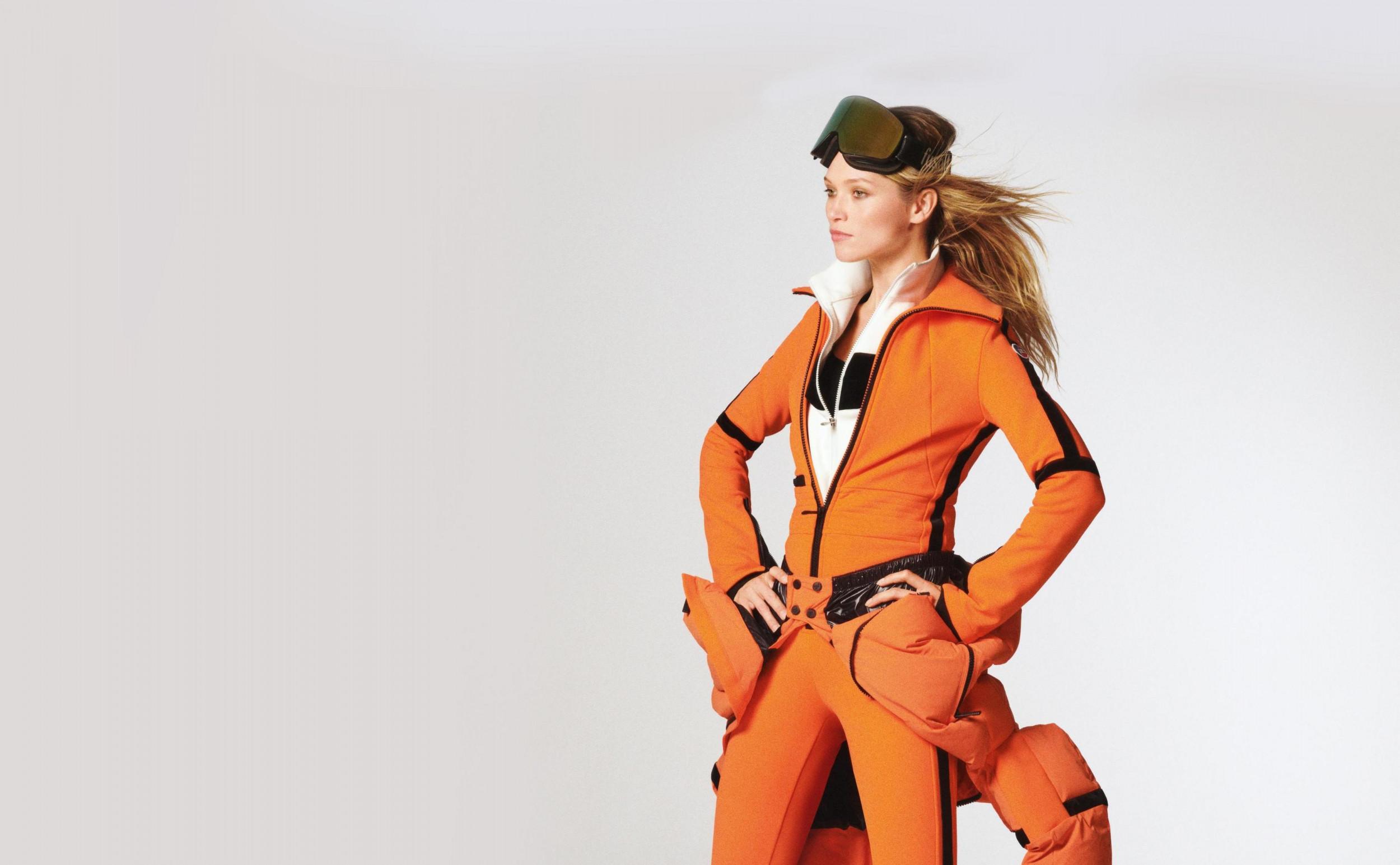 Modern ski outfit