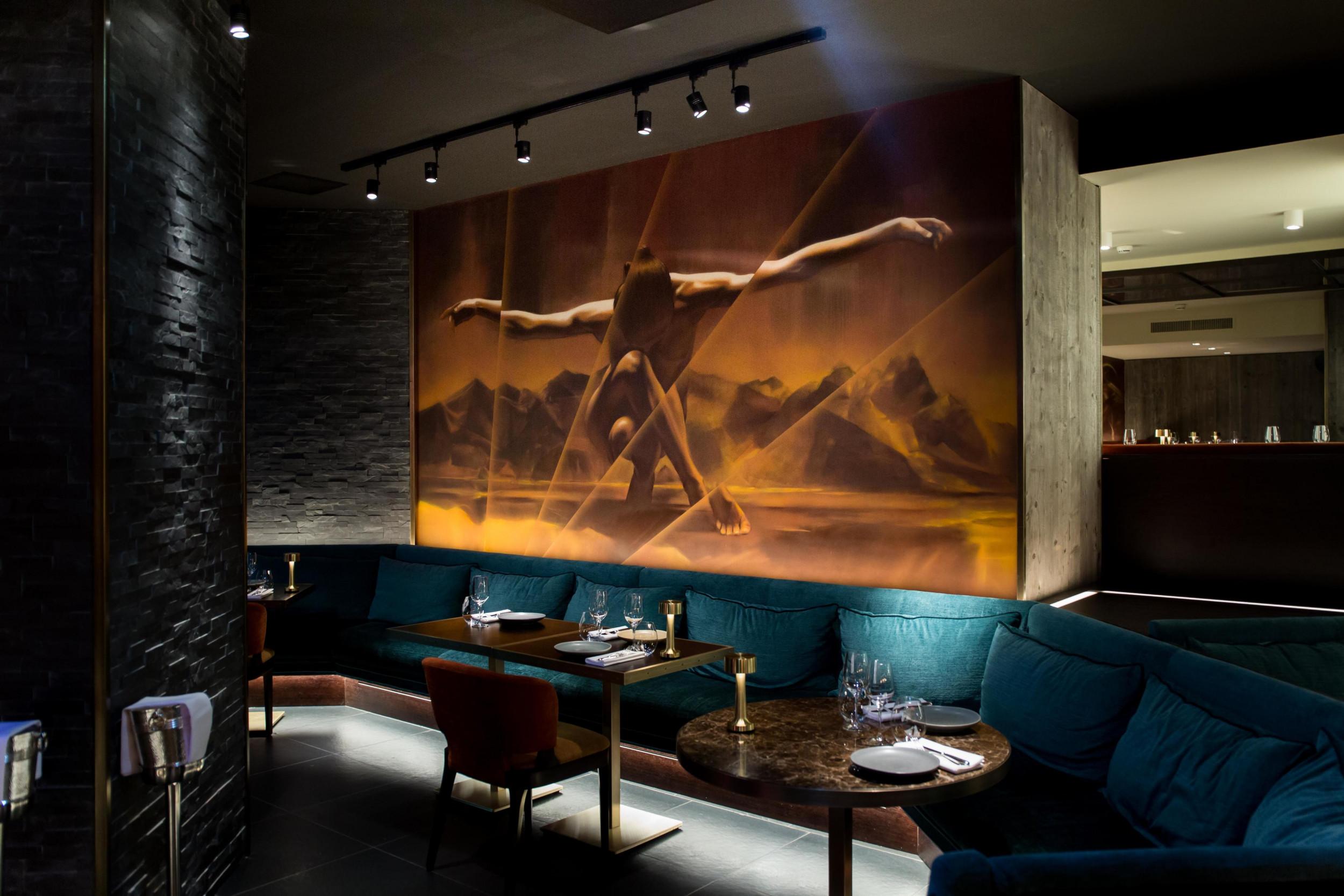 Wall art in St Moritz
