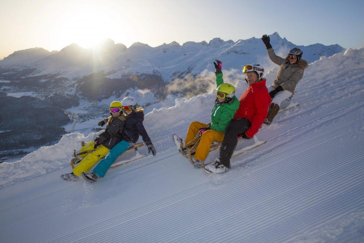 Winter sports in St. Moritz
