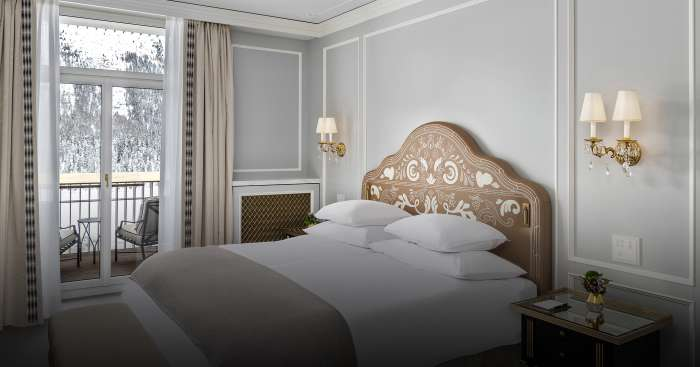 Schlafzimmersuite im Badrutt's Palace Hotel