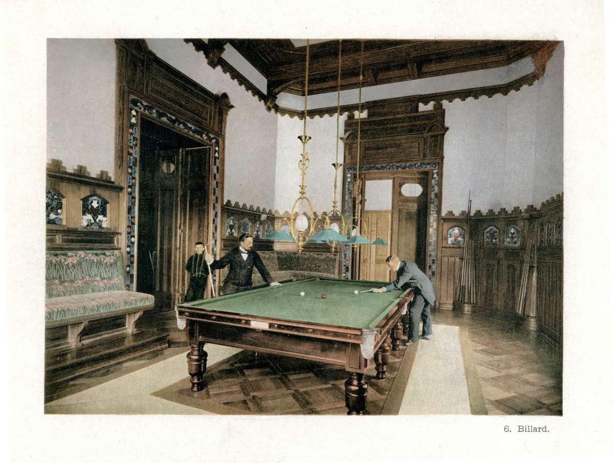 Historical billiard room picture