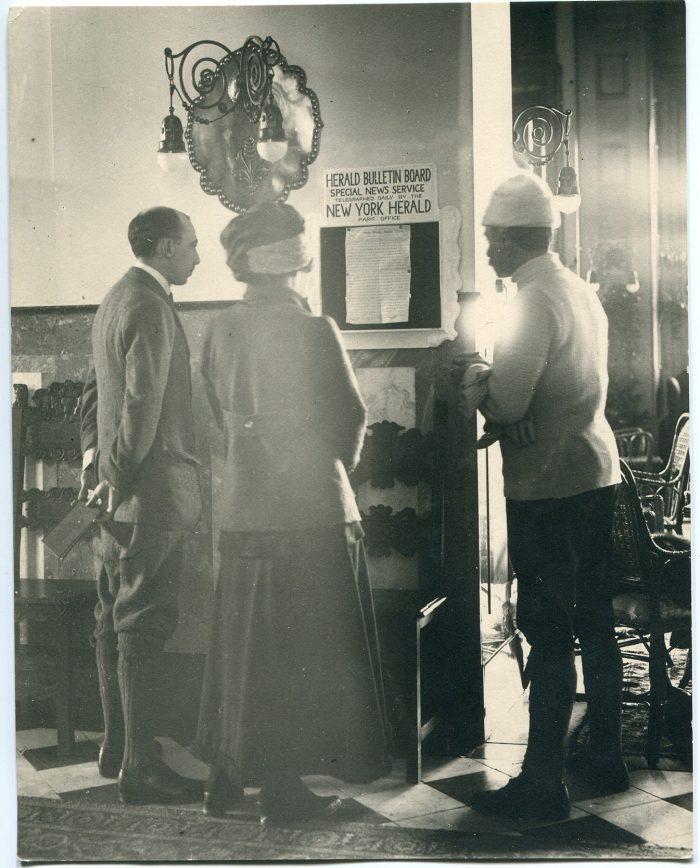 Badrutt's Palace Hotel foyer 1913