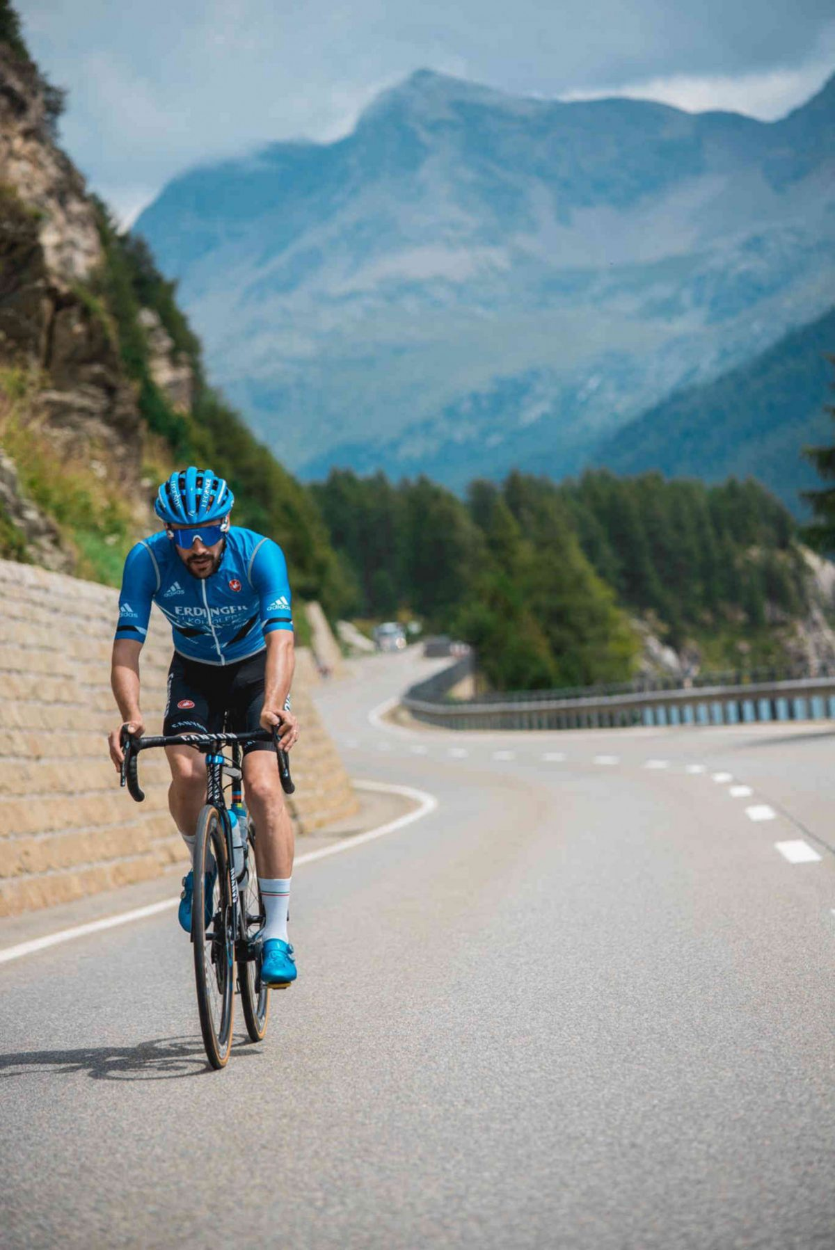Cyclist training in the Engadin