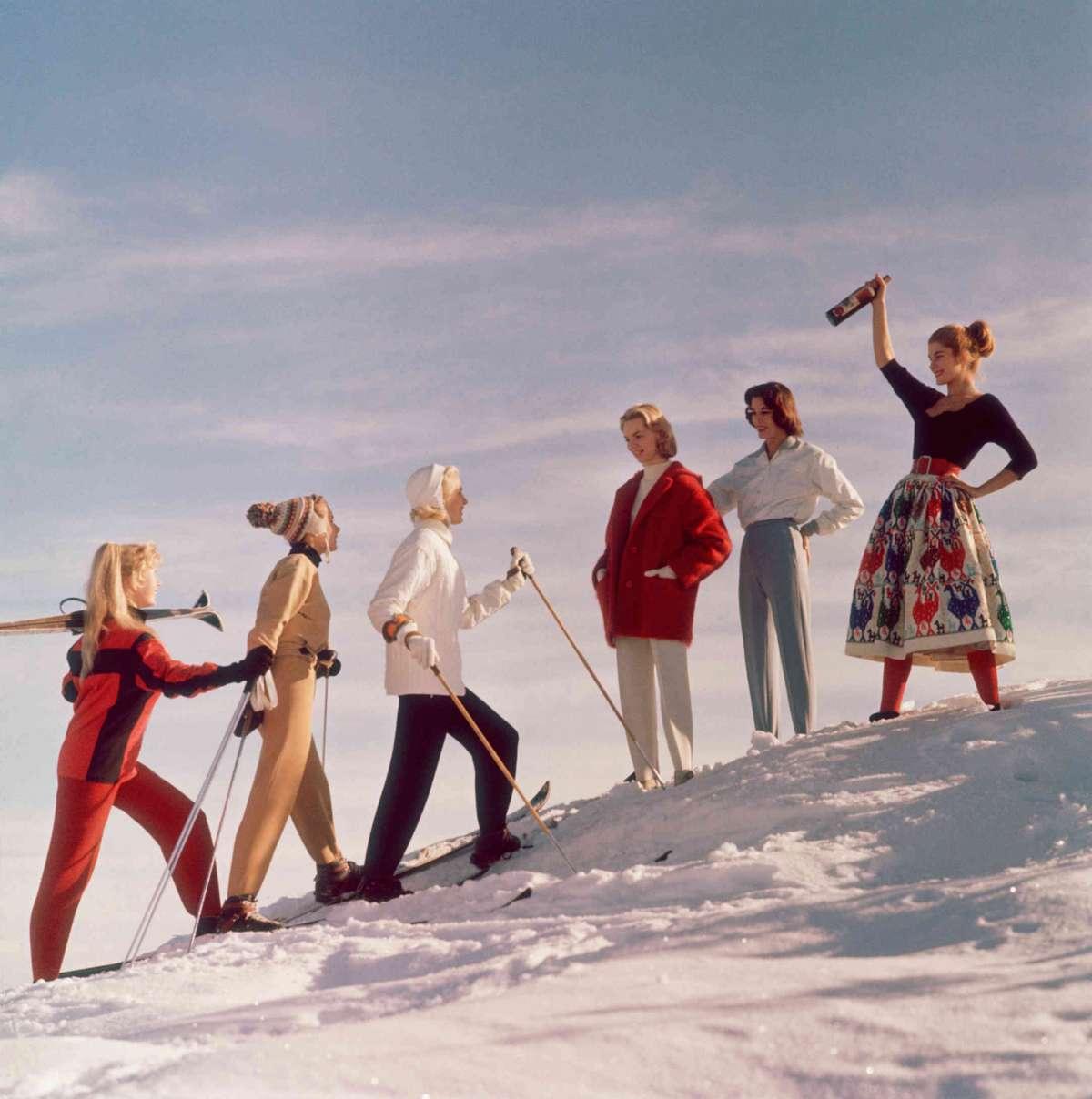 Winter style in St. Moritz