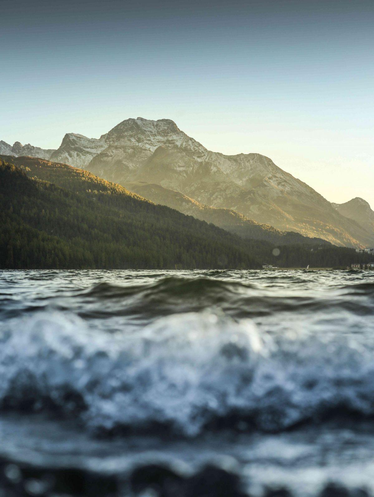Silvaplana mountain in the Swiss canton of Graubünden