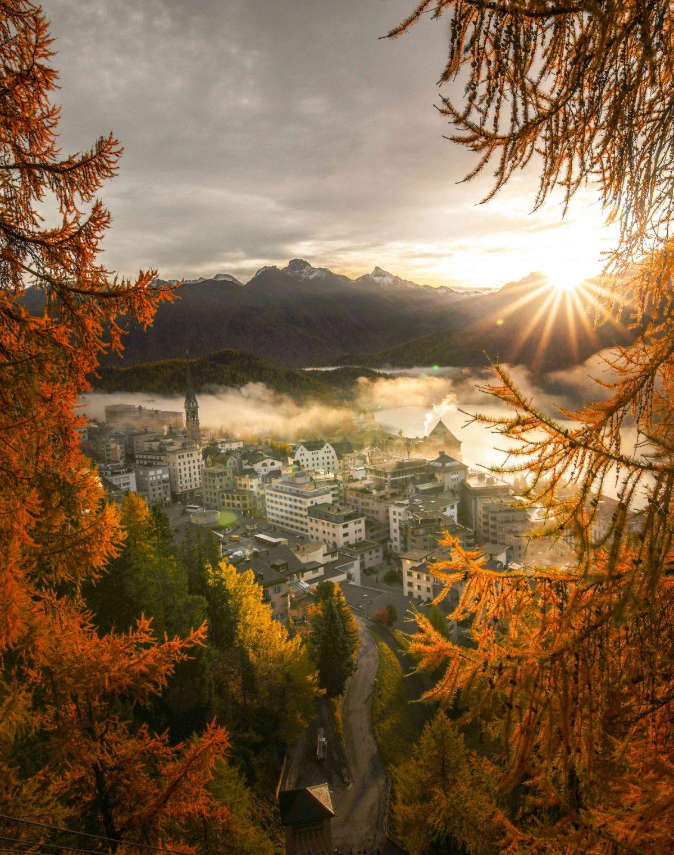 Autumn picture of St Moritz