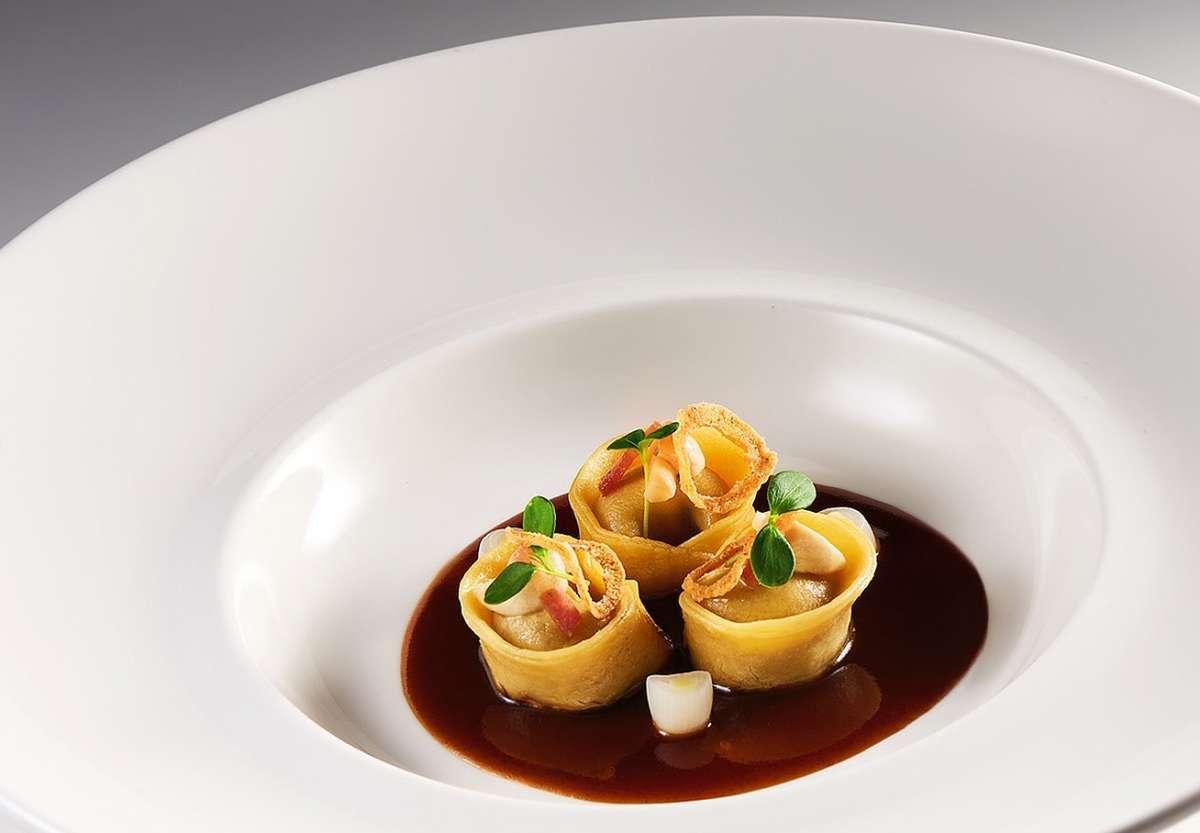 Braised veal tortellini by Maxime Luvara, Executive Chef, Badrutt's Palace Hotel