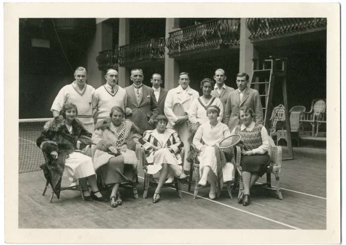 Historic tennis picture at Badrutt's Palace Hotel
