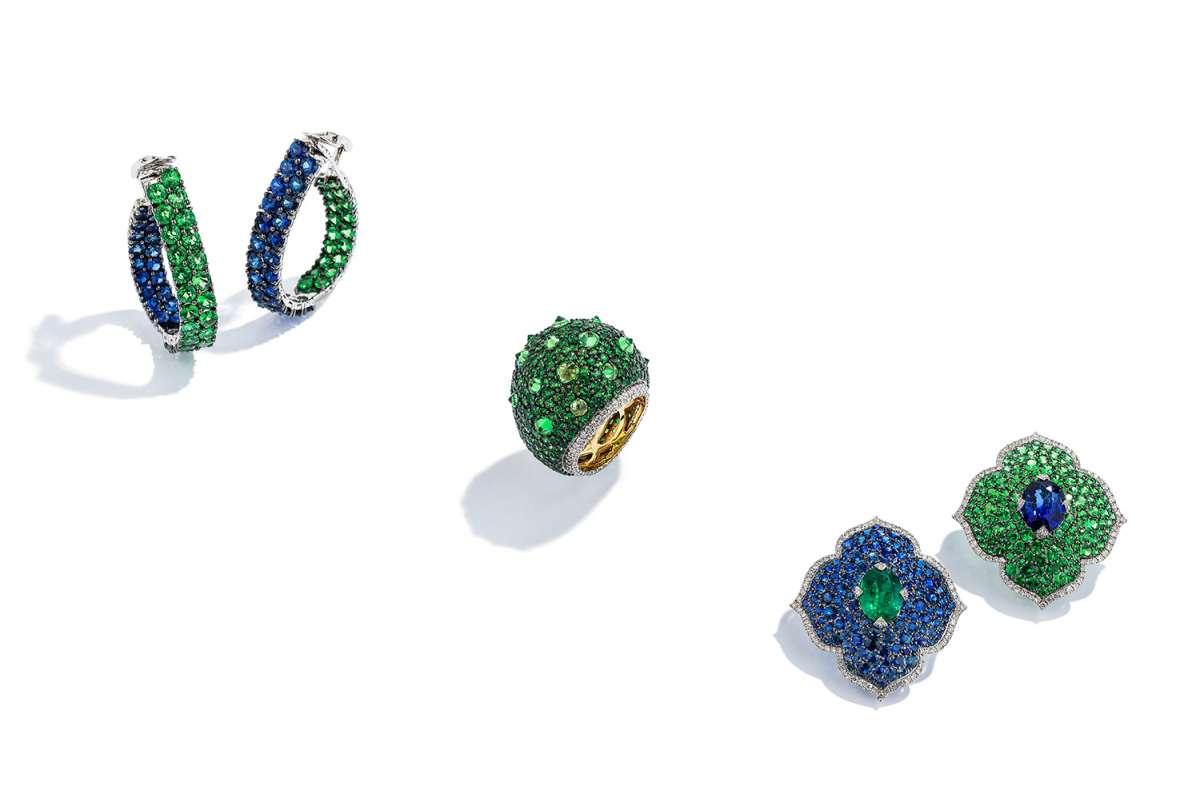 Coloured gem jewellery from Piranesi